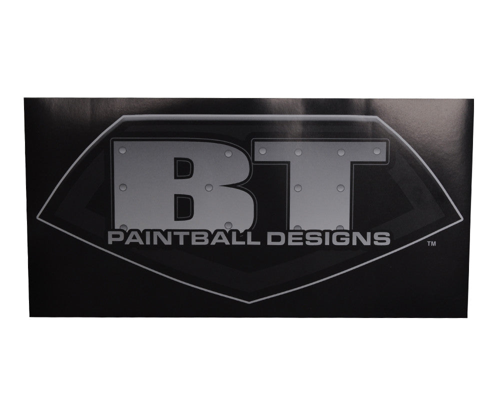 BT Paintball Logo Sticker - Black