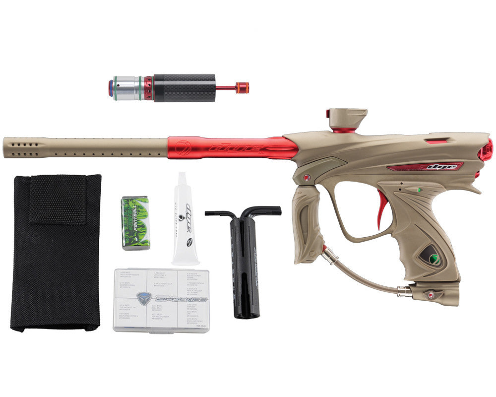 Dye DM13 Paintball Gun w/ CF Billy Wing Bolt - Tan/Red