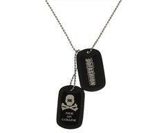 HK Army Dog Tags - Black