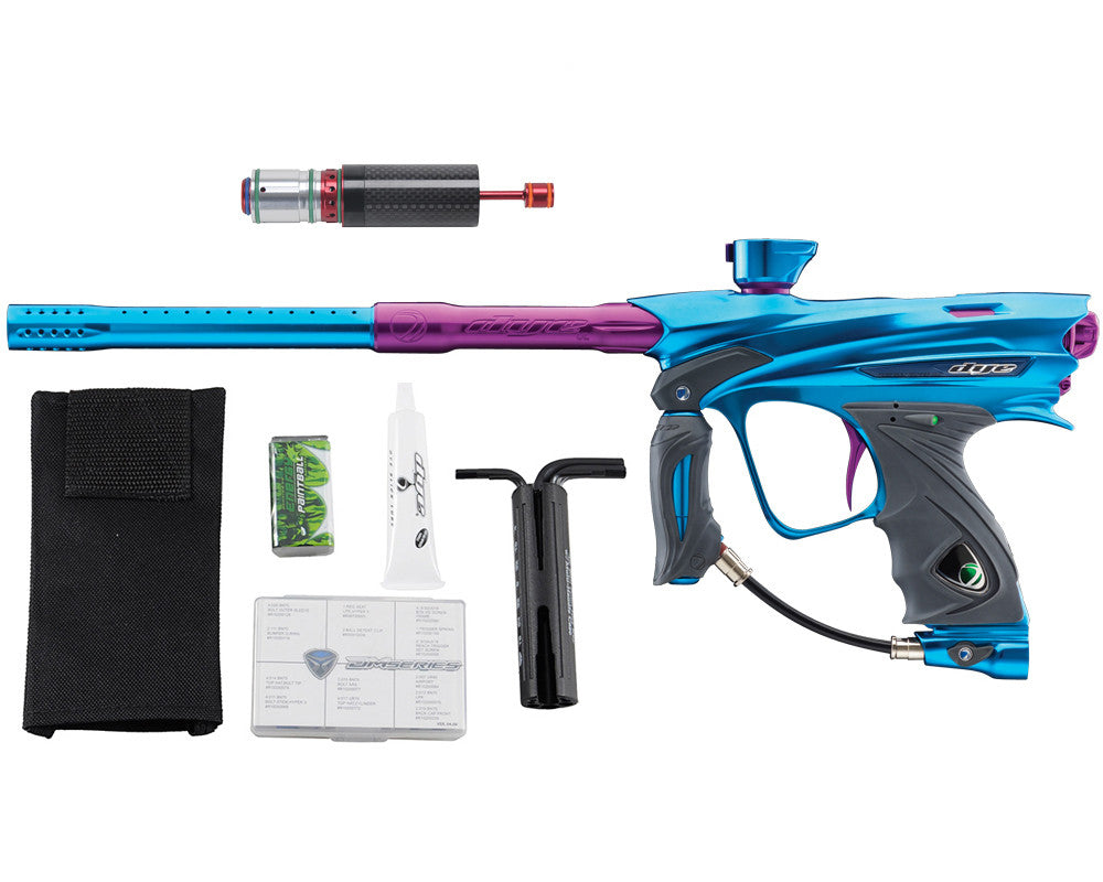 Dye DM13 Paintball Gun w/ CF Billy Wing Bolt - Teal/Purple