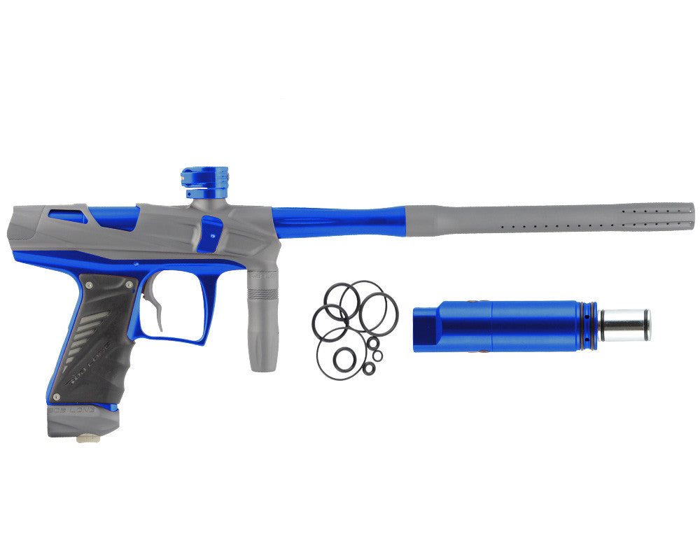 Bob Long Victory V-COM Paintball Gun - Dust Titanium/Blue
