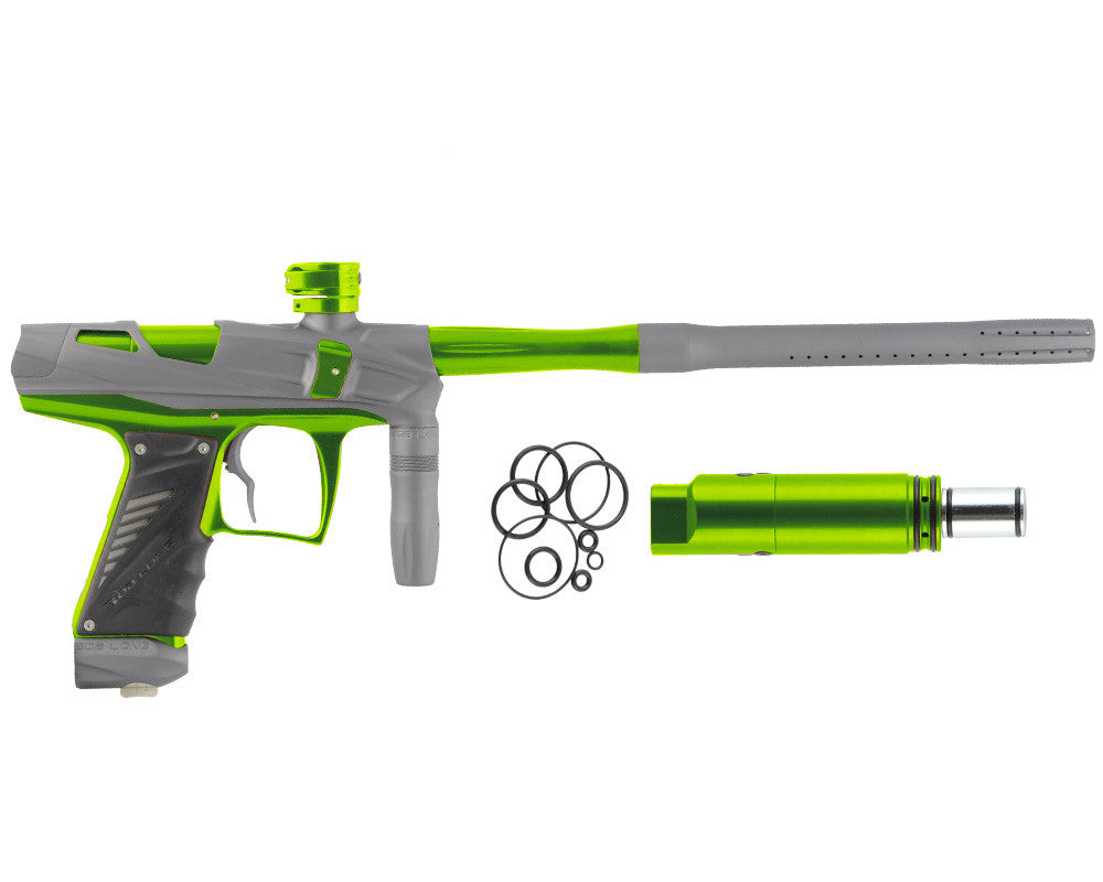Bob Long Victory V-COM Paintball Gun - Dust Titanium/Lime