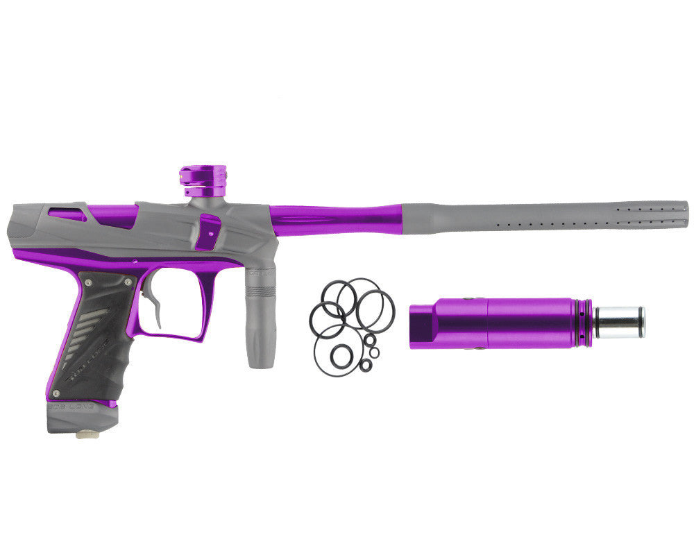 Bob Long Victory V-COM Paintball Gun - Dust Titanium/Purple