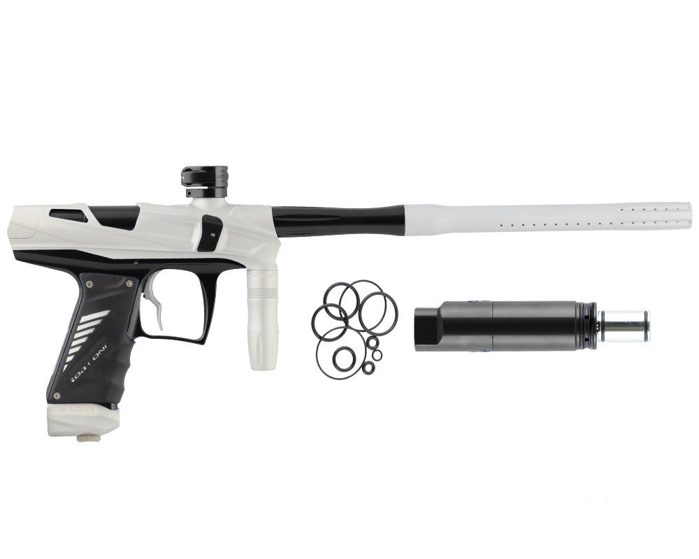 Bob Long Victory V-COM Paintball Gun - Dust White/Black