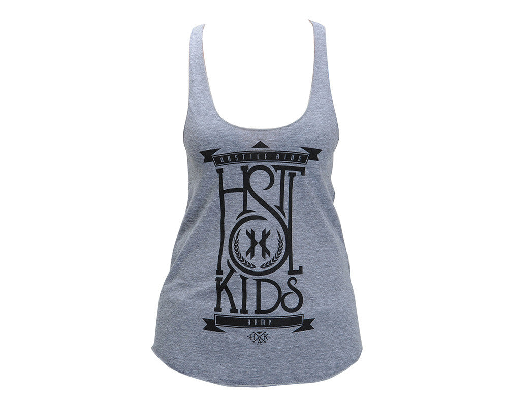 HK Army Stacked Girls Tank Top - Grey