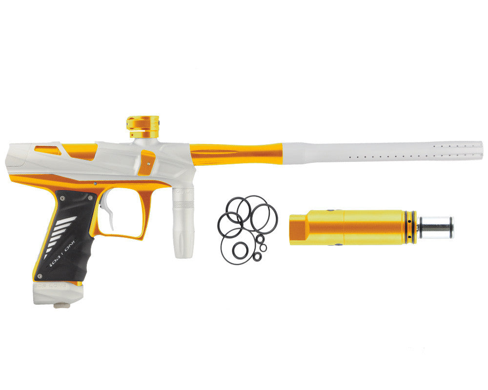 Bob Long Victory V-COM Paintball Gun - Dust White/Gold