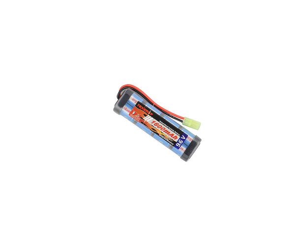 Tenergy 9.6V 1600mAh Flat NiMH Airsoft Battery Pack w/ Mini Tamiya