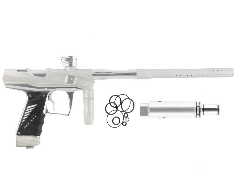 Bob Long Victory V-COM Paintball Gun - Dust White/Silver
