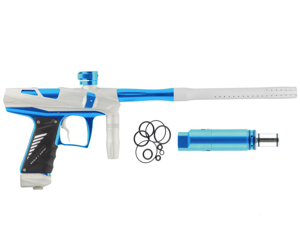 Bob Long Victory V-COM Paintball Gun - Dust White/Teal