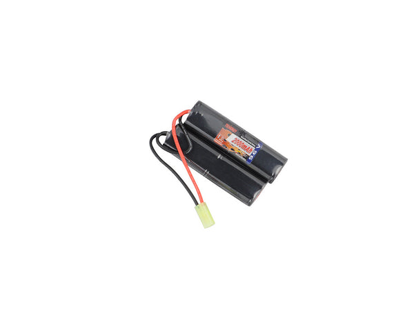 Tenergy NiMH 9.6V 2000mAh Nunchuck Battery Pack w/ Mini Tamiya Connector