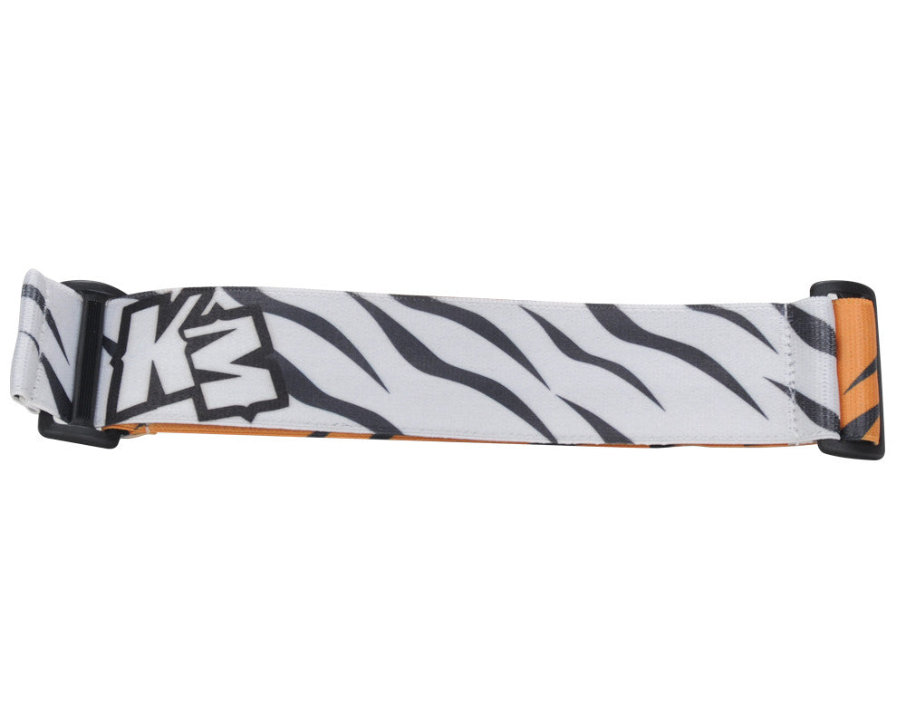 KM Paintball Goggle Strap - 09 White/Orange Tiger Stripe