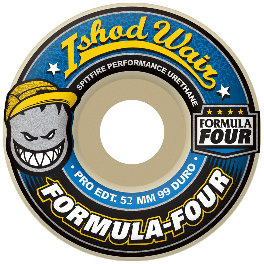 Spitfire Formula Four Wair - White - 54mm 99a - Skateboard Wheels (Set of 4)