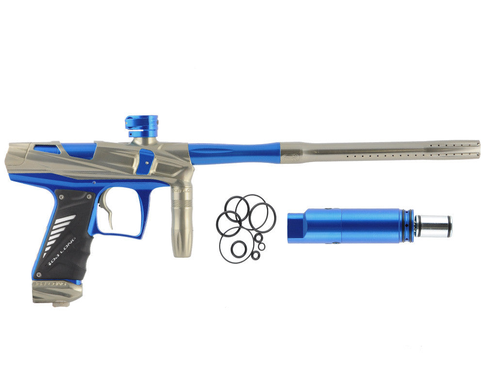 Bob Long Victory V-COM Paintball Gun - Khaki/Blue