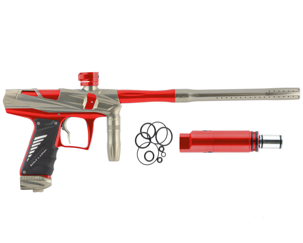 Bob Long Victory V-COM Paintball Gun - Khaki/Red
