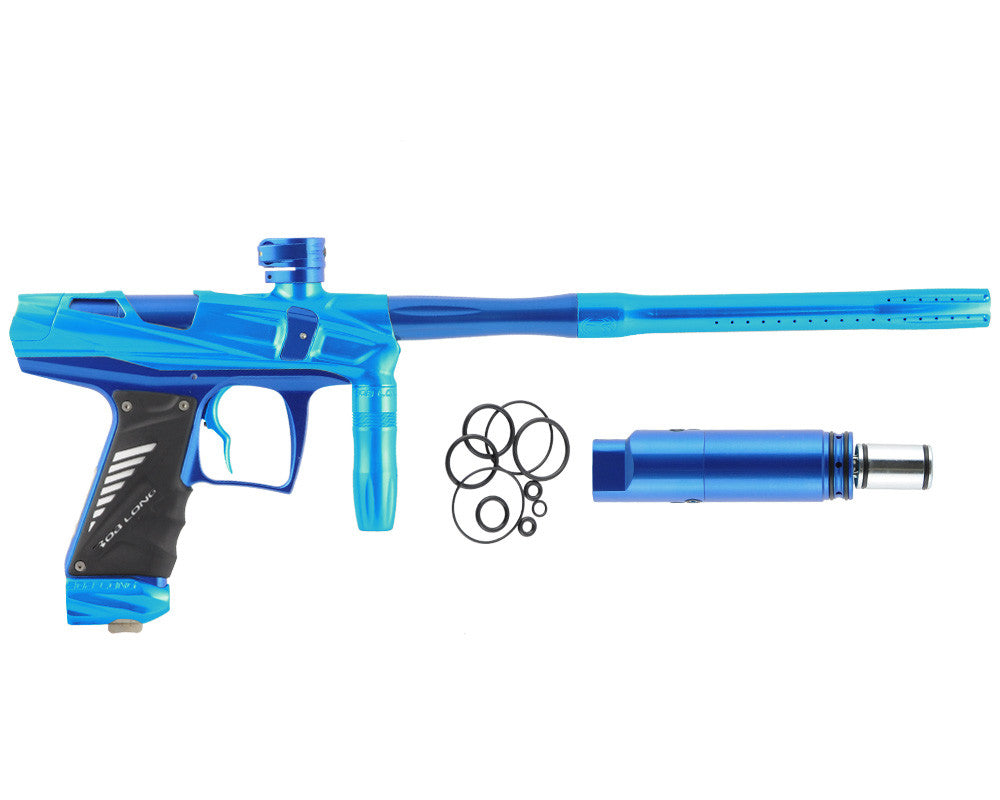 Bob Long Victory V-COM Paintball Gun - Teal/Blue