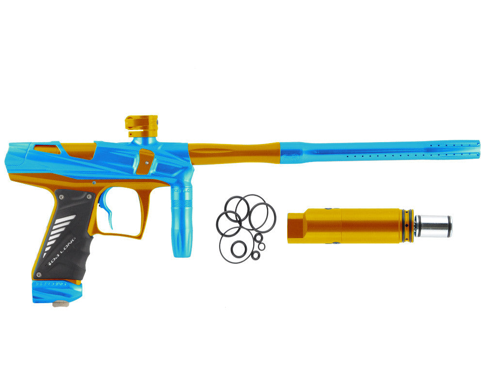 Bob Long Victory V-COM Paintball Gun - Teal/Gold