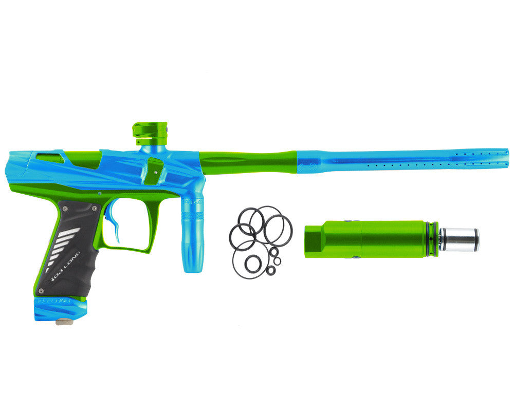Bob Long Victory V-COM Paintball Gun - Teal/Lime