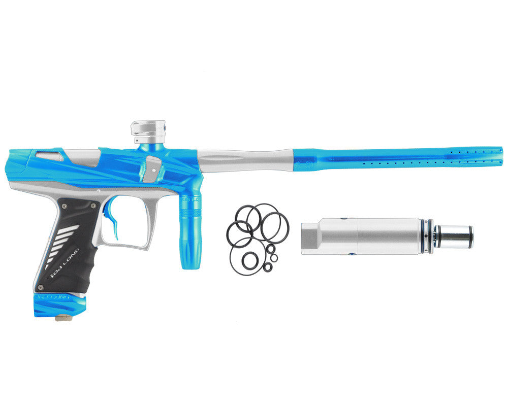 Bob Long Victory V-COM Paintball Gun - Teal/Silver