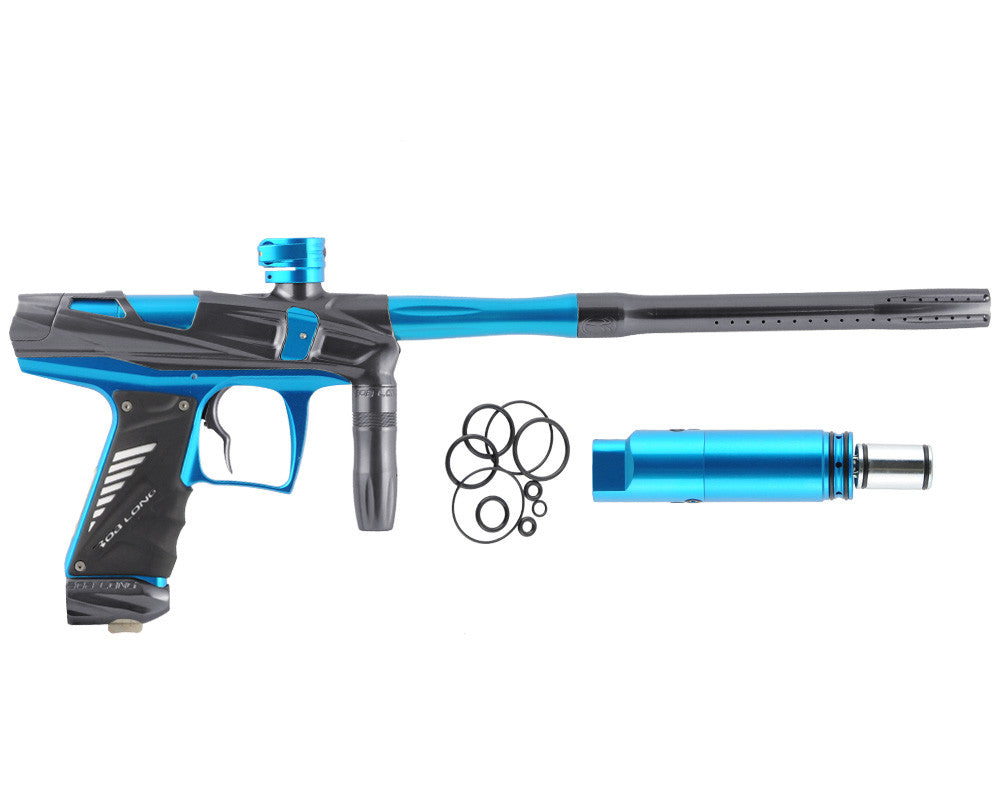 Bob Long Victory V-COM Paintball Gun - Titanium/Teal