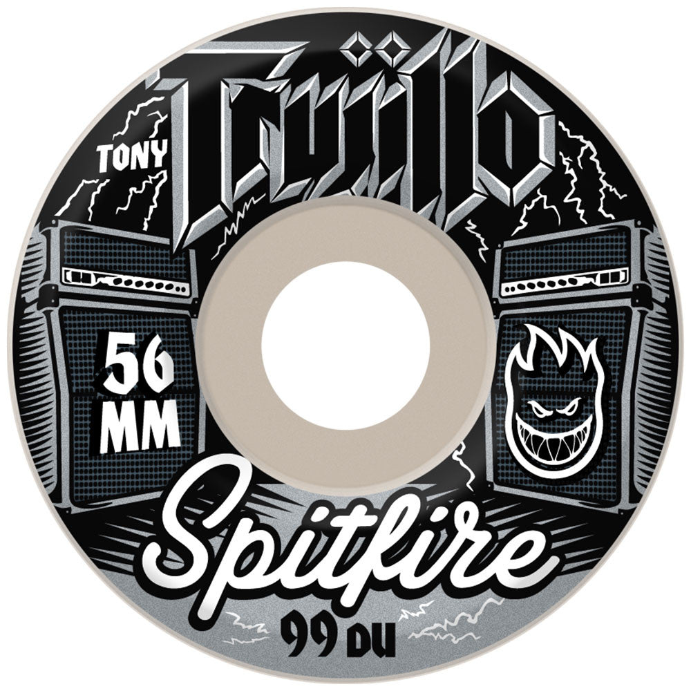 Spitfire Trujillo Eleven - White - 54mm 99a - Skateboard Wheels (Set of 4)