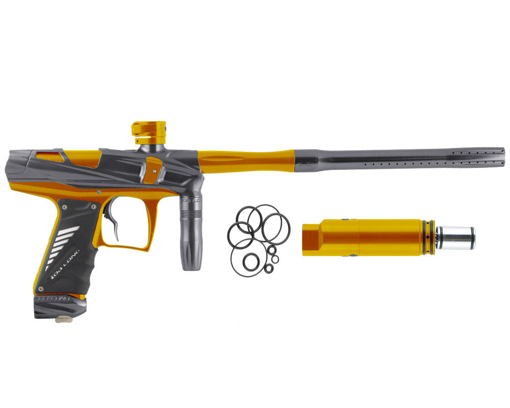 Bob Long Victory V-COM Paintball Gun - Titanium/Gold