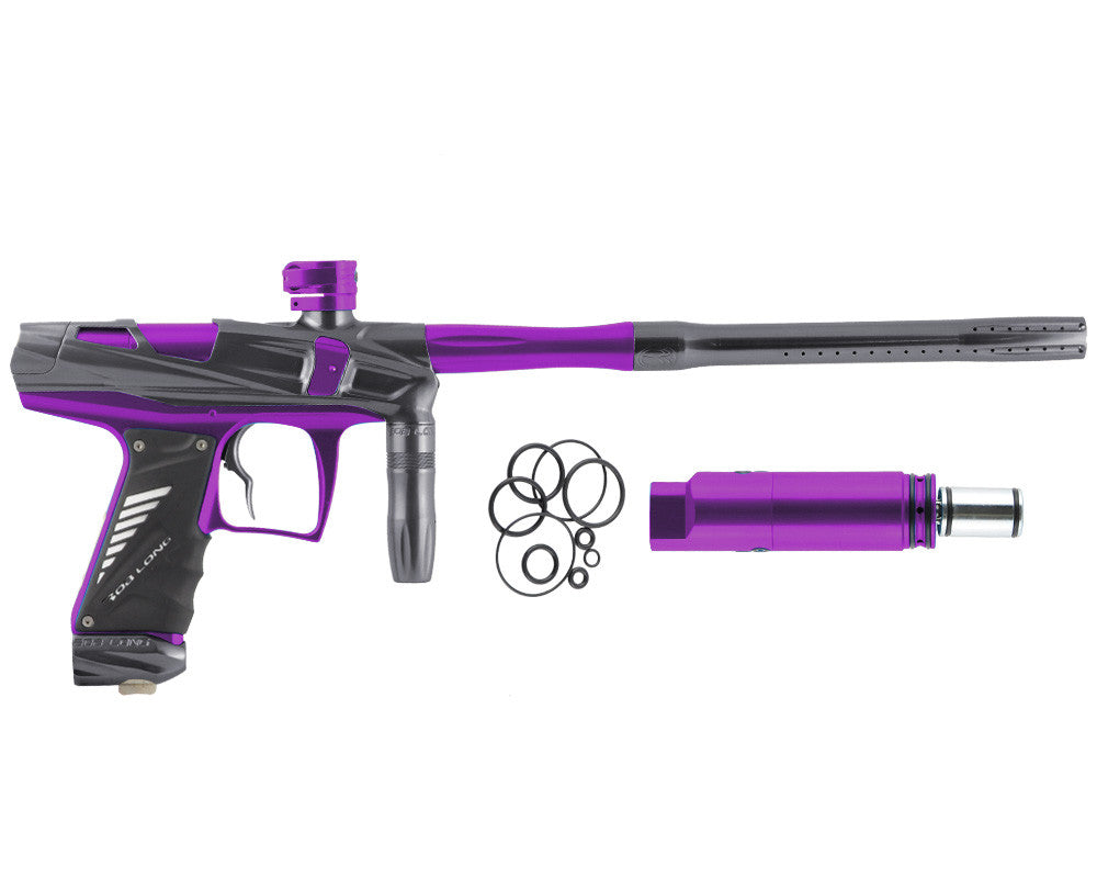 Bob Long Victory V-COM Paintball Gun - Titanium/Purple
