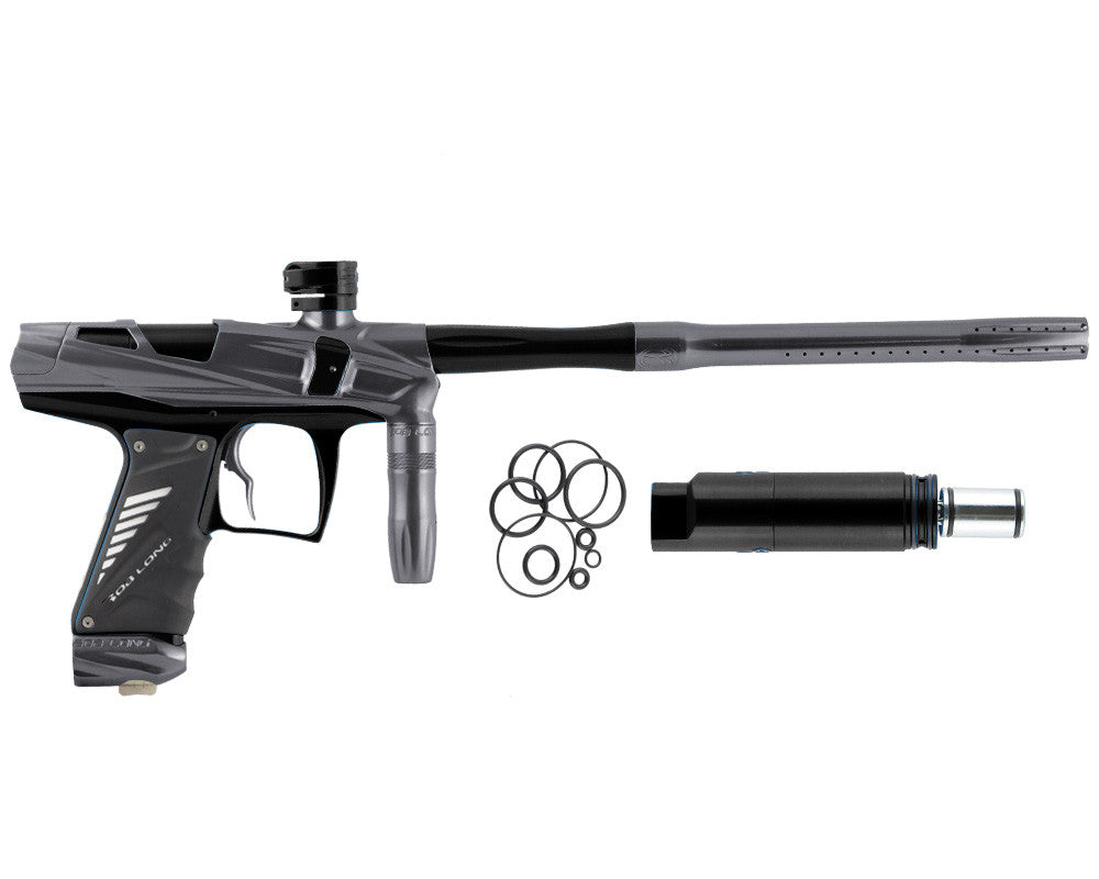 Bob Long Victory V-COM Paintball Gun - Titanium/Black