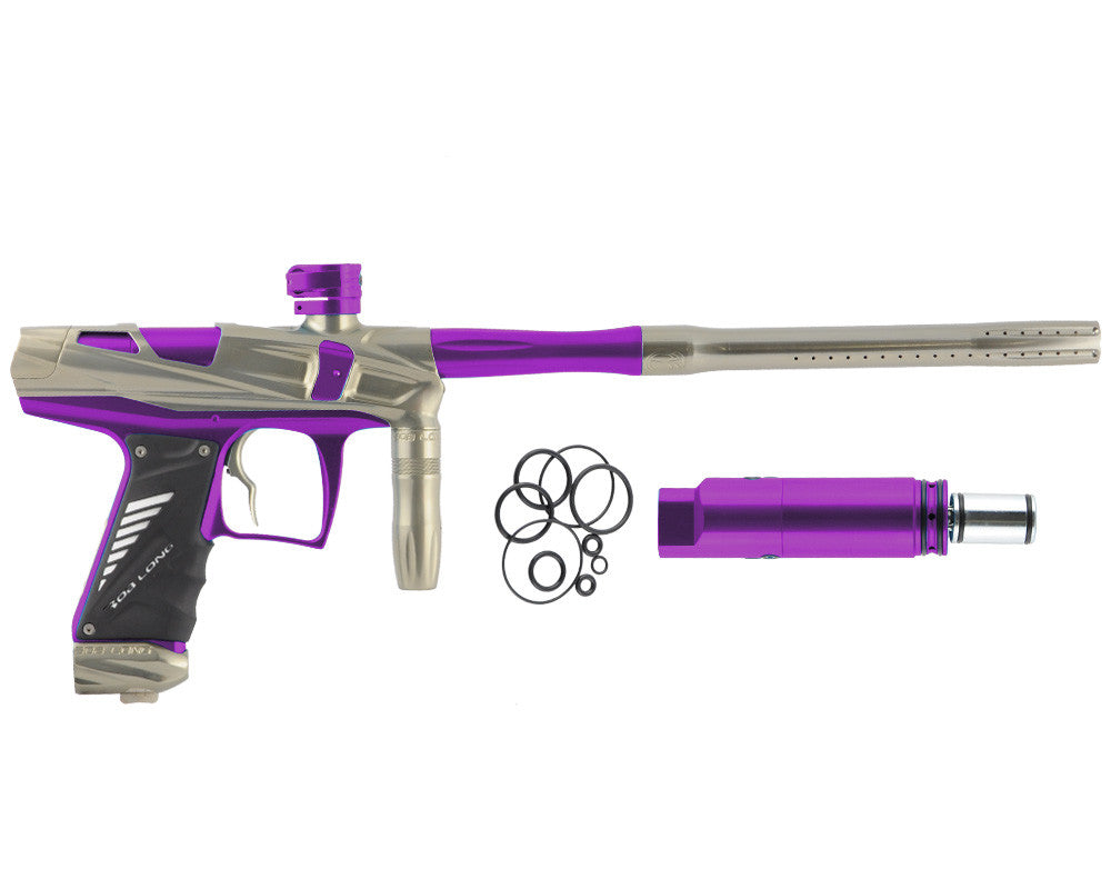 Bob Long Victory V-COM Paintball Gun - Khaki/Purple