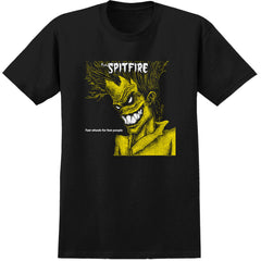 Spitfire Fast Wheels Fast People S/S - Black - Men's T-Shirt