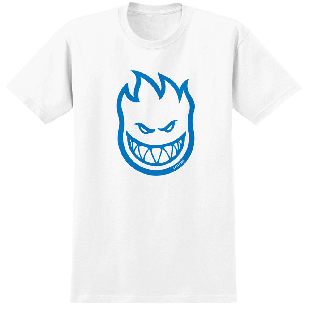 Spitfire Bighead S/S - White/Blue - Men's T-Shirt