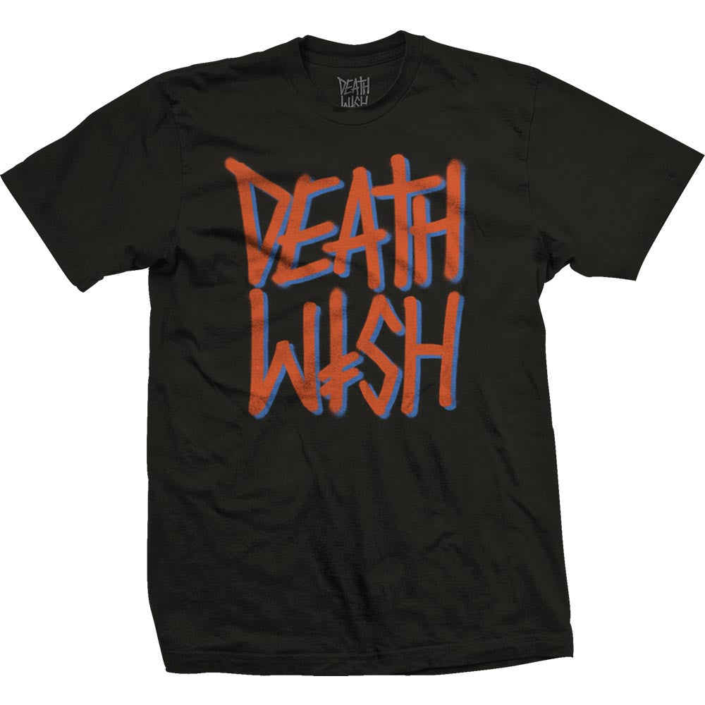 Deathwish Deathstack - Black/Orange - Men's T-Shirt