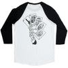 Deathwish Death Hands Baseball - White/Black - Men's T-Shirt