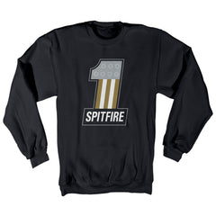Spitfire #1 Raglan Crewneck - Black - Men's Sweatshirt
