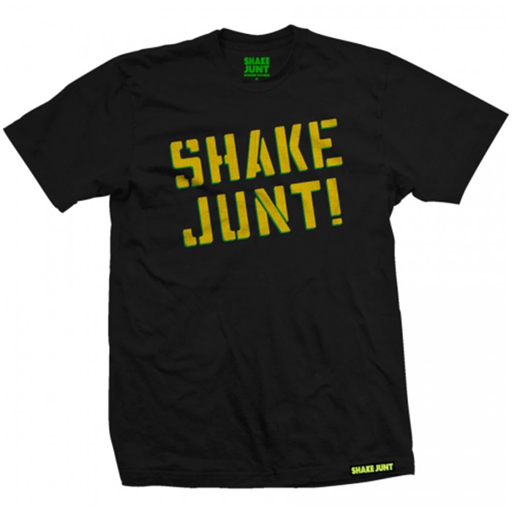 Shake Junt Spray Logo Crackle - Black - Men's T-Shirt