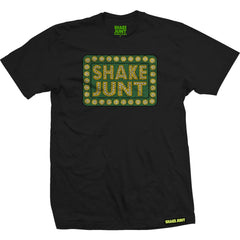 Shake Junt Box Logo Crackle - Black - Men's T-Shirt