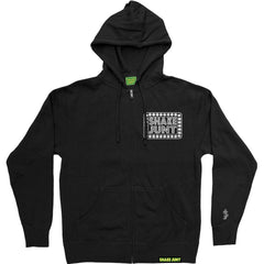 Shake Junt Box Logo Zip-Up - Black - Men's Sweatshirt