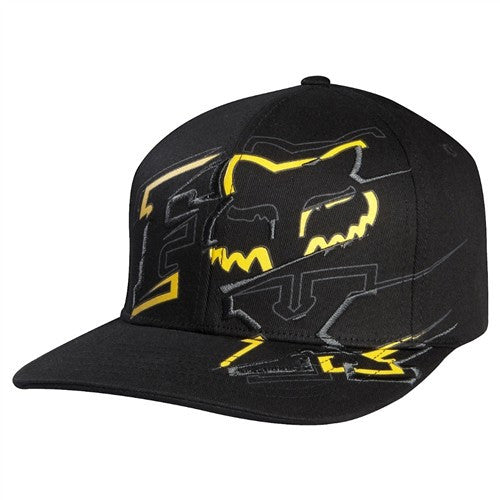 Fox Baseline Flexfit Hat - Black - Men's Hat