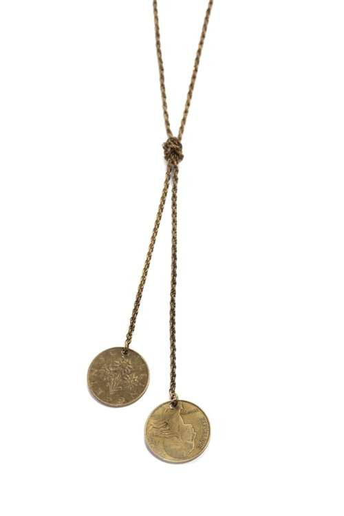 Love Nail Tree Knotted Coins Necklace - Copper - Jewelry