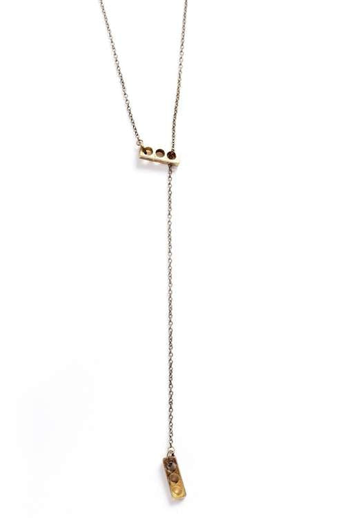 Love Nail Tree Bricks Necklace - Brass - Jewelry