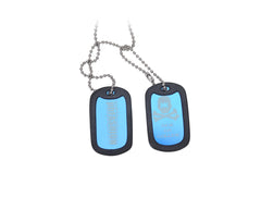 HK Army Dog Tags - Blue