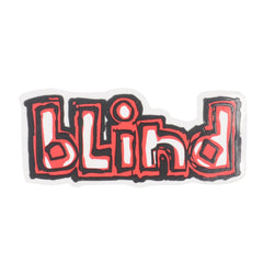 Blind Classic OG Logo - White/Red - Sticker