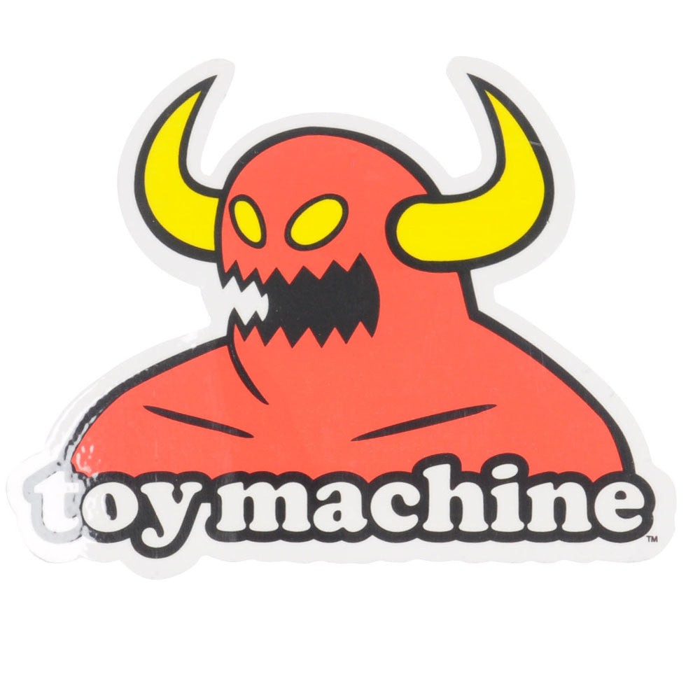 Toy Machine Monster Logo - Red/White - Sticker