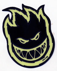 Spitfire Bighead Bolts Small - Black/Glow - Sticker