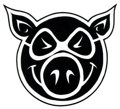 Pig Medium Pig Head - Sticker