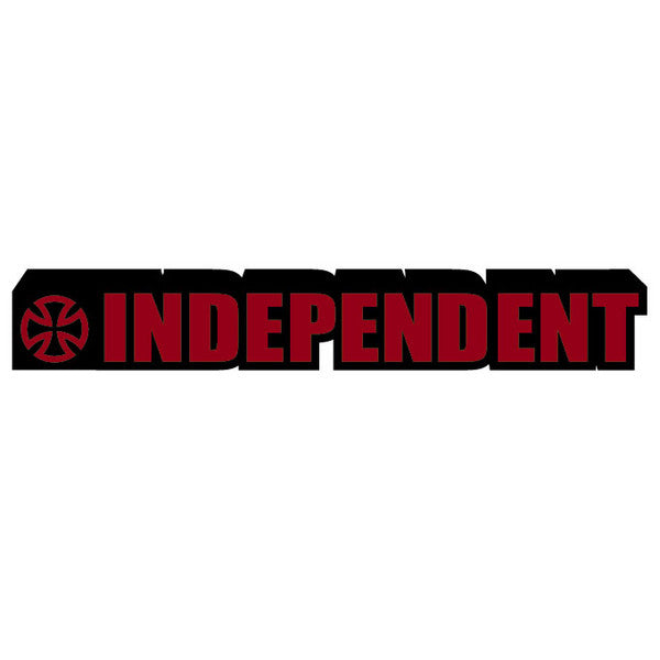 Independent Irregular Patch Full Adhesive Back - Red/Black - 6in - Sticker