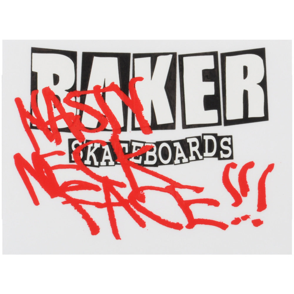 Baker Nasty Neckface - Clear - Stickers
