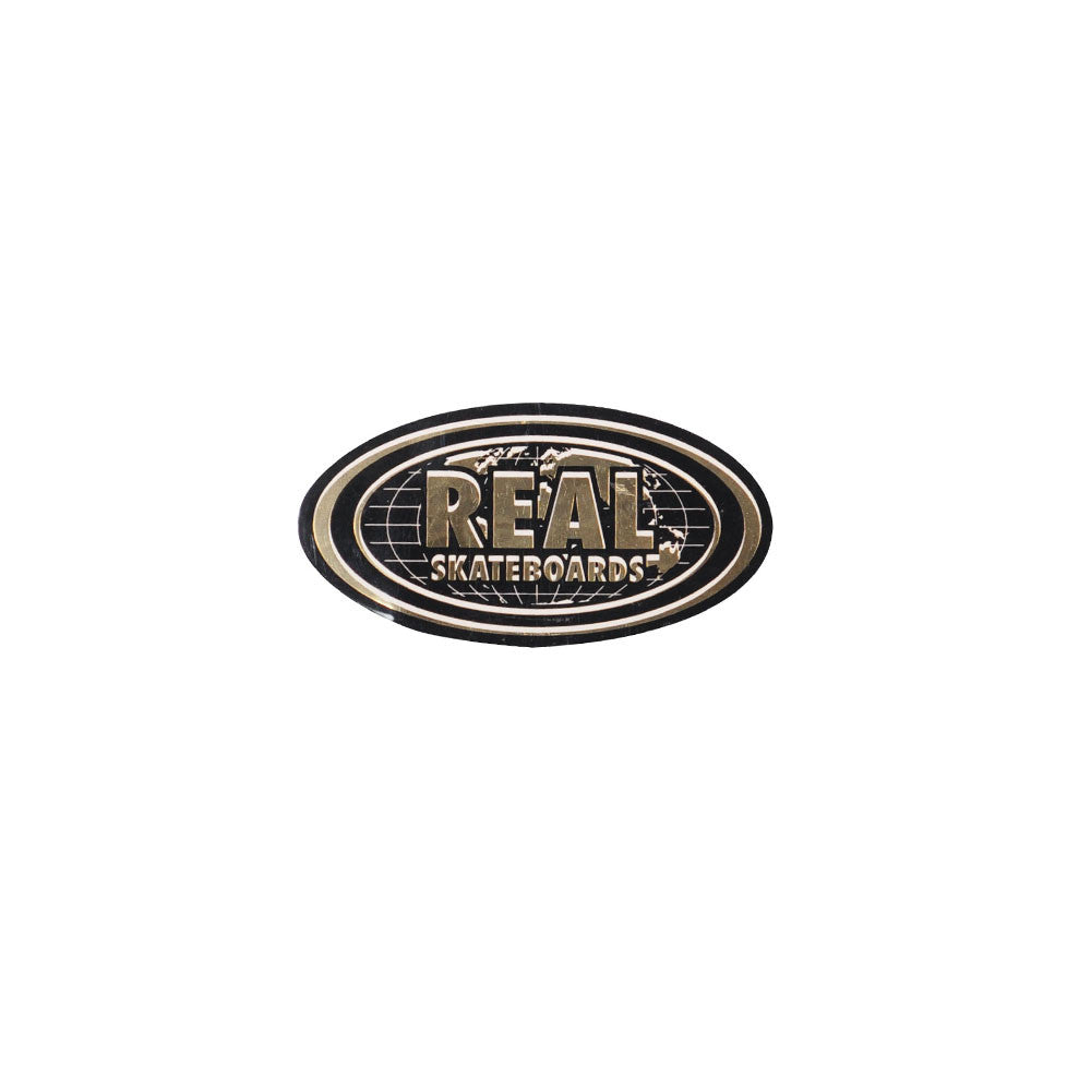 Real Bold World Oval Small - Sticker