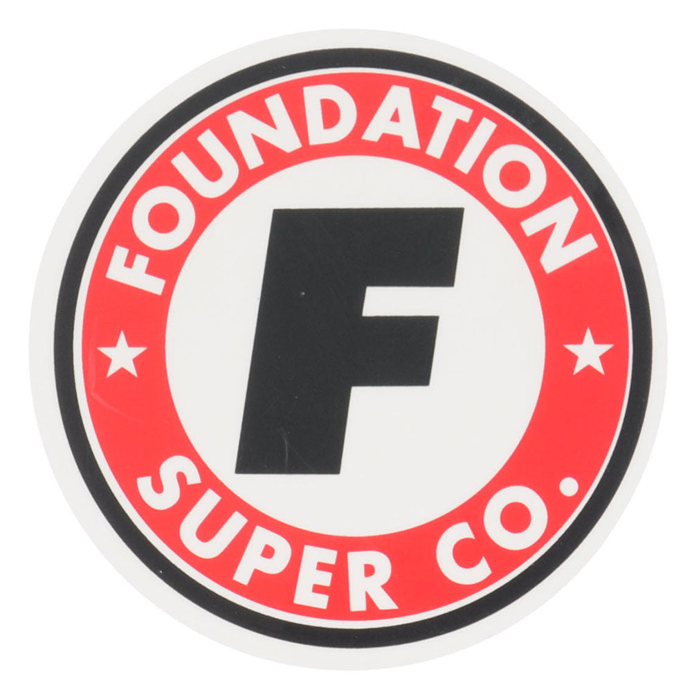 Foundation Super Co Circle F Medium - Assorted - Sticker