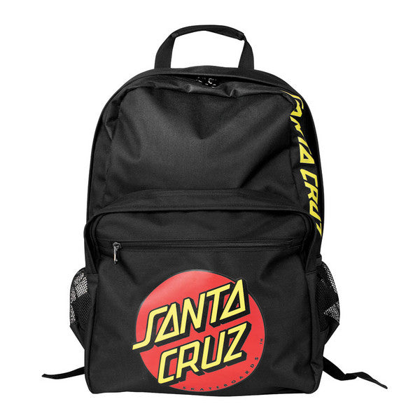 Santa Cruz Classic Dot Backpack - Black - 12.75Wx17.5Hx5.5D - Backpack