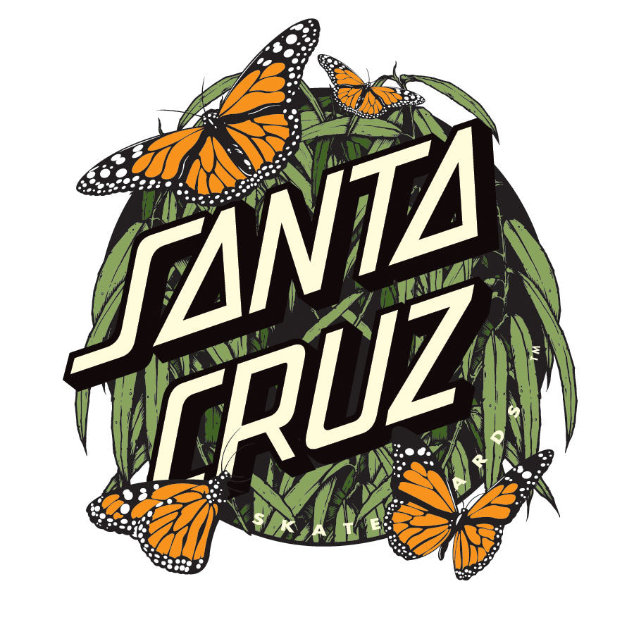 Santa Cruz Monarch Decal - Green/Orange - 3in - Sticker